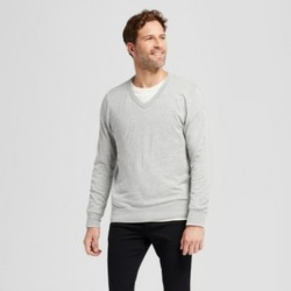 a216f5b48e Goodfellow & Co Sweaters | Nwt Goodfellow Co Gray Mens Vneck Sweater ...